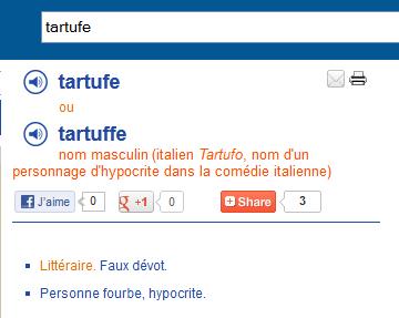 Qu est ce qu un tartuffe illustration par l exemple for Tartuffe definition