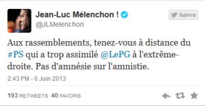tweet mélenchon