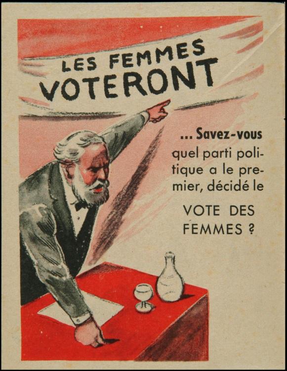 le 70 me anniversaire du droit de vote des femmes en images les chos de la gauchosph re. Black Bedroom Furniture Sets. Home Design Ideas