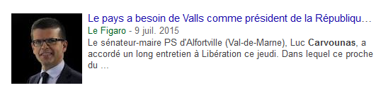 Carvounas, Vallsien