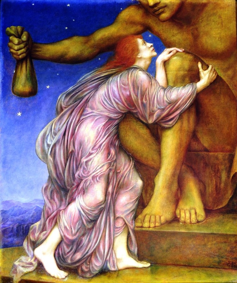 The Worship of Mammon (The Cult of Mammon), Evelyn De Morgan, circa 1909