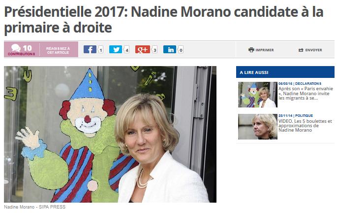 En effet, je confirme : Nardine Morano est trèsprimaire