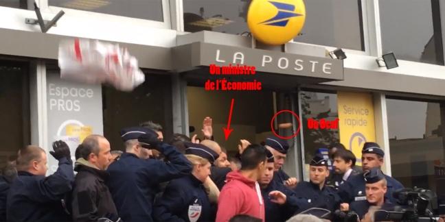 VIDEO-Emmanuel-Macron-accueilli-par-des-jets-d-oeufs-a-la-Poste-de-Montreuil