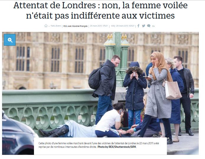 femme voilée Londres
