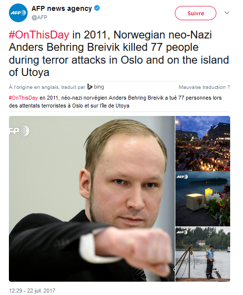 c tait un 22 juillet breivik terrorisme d extr me droite ut ya norway antifa nonazis. Black Bedroom Furniture Sets. Home Design Ideas